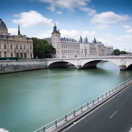 The Seine  by James Perkins - City,  Street & Park  Historic Districts ( history, seine, france, road, bridge )
