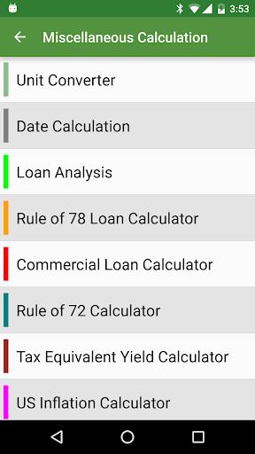 Financial Calculators Pro - screenshot