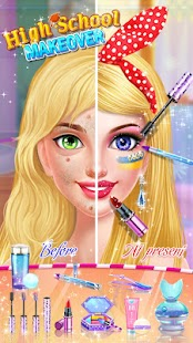 School Makeup Salon APK for Bluestacks