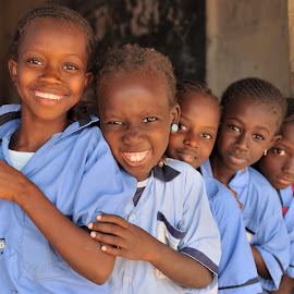 At School by Tomasz Budziak - Babies & Children Child Portraits ( school, children, portraits, africa )