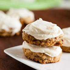 Carrot Cake Cookies With Ginger Cream Cheese Frosting