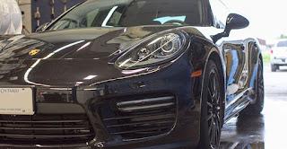 Paint protection on a Porsche Panamera - Ottawa