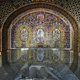 Made in Nikon. by Marcel Cintalan - Buildings & Architecture Public & Historical ( iran, reflection, teheran, architectural detail, architecture, mosaic, colours )