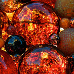 Red Bubble Glass by Renata Apanaviciene - Artistic Objects Other Objects ( bubble, red, colorful, glass, merry chrismas, wonderful )