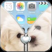 Love Puppy Zipper Lock Screen APK for Bluestacks