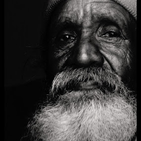 The Old by Abhishek Mandal - People Portraits of Men ( a old face india, face, people,  )