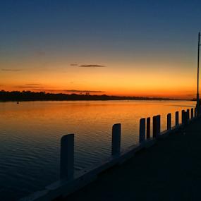 Sunset Pattern  by Kamila Romanowska - Instagram & Mobile iPhone ( water, pattern, australia, gold, svening, landscape )