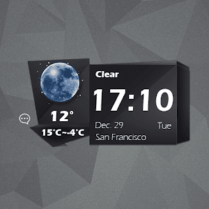 Black block-iDO Weather widget