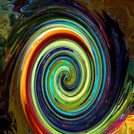 Tsunami  by Vijay Govender - Digital Art Abstract ( abstract, spirals )