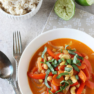 Thai Red Curry with Peppers and Cashews
