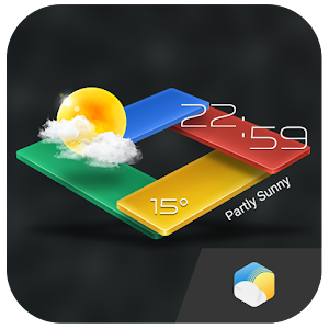 Download 3D G-Color Weather Live Widget