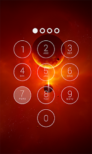 Fancy Lock Screen Galaxy - screenshot