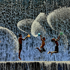 Joyful Emotions by Agoes Antara - Babies & Children Children Candids ( water, candid, kids, people, pcwemotions )