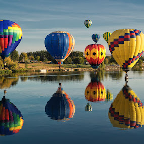 Prosser Hot Air Balloon Rally, WA by Peter Cheung - Landscapes Travel ( urban, prosser, lifestyle, hot balloon, city, , colorful, mood factory, vibrant, happiness, January, moods, emotions, inspiration )