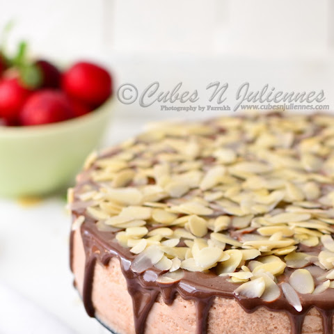 Chocolate Almond-Plum Bavarian Torte