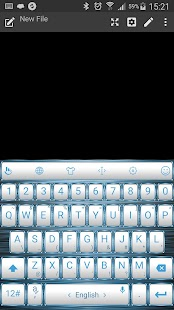 Keyboard Theme Frame W Blue - screenshot