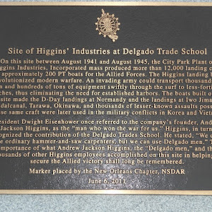 On this site between August 1941 and August 1945, the City Park Plant of Higgins Industries, Incorporated mass produced more than 12,000 landing craft and approximately 200 PT boats for the Allied ...