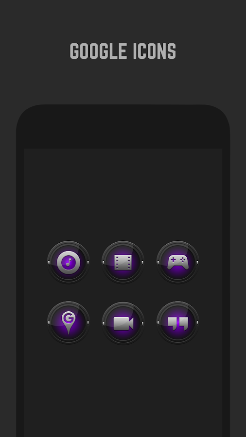 Black and Purple Icon Pack Screenshot 1