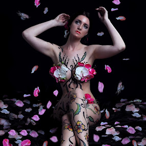 VELVET PETALS by EUGENE CAASI - People Body Art/Tattoos