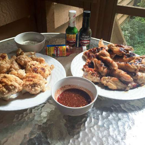 Buffalo Wings and Cauliflower Bites With Homemade Buffalo Sauce