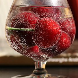 by Liviu Nanu - Food & Drink Fruits & Vegetables ( water, bubbles, cherries )