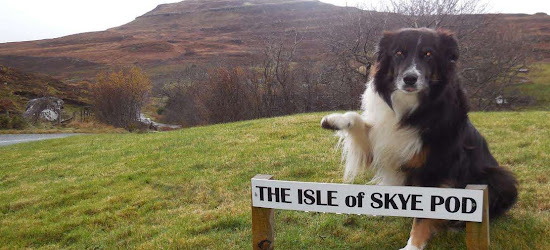 Happy Traveller visiting The Isle of Skye Pod
