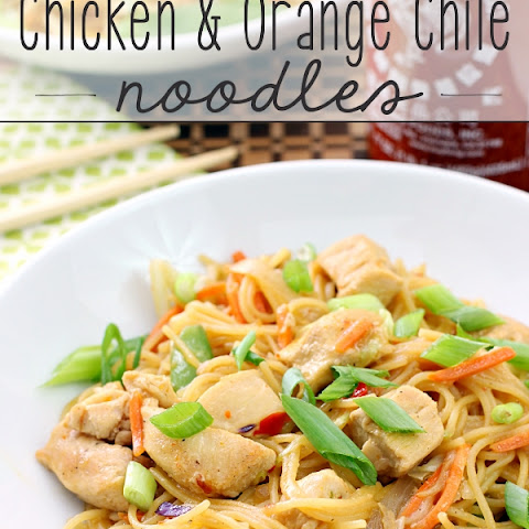 One Pan Chicken & Orange Chile Noodles