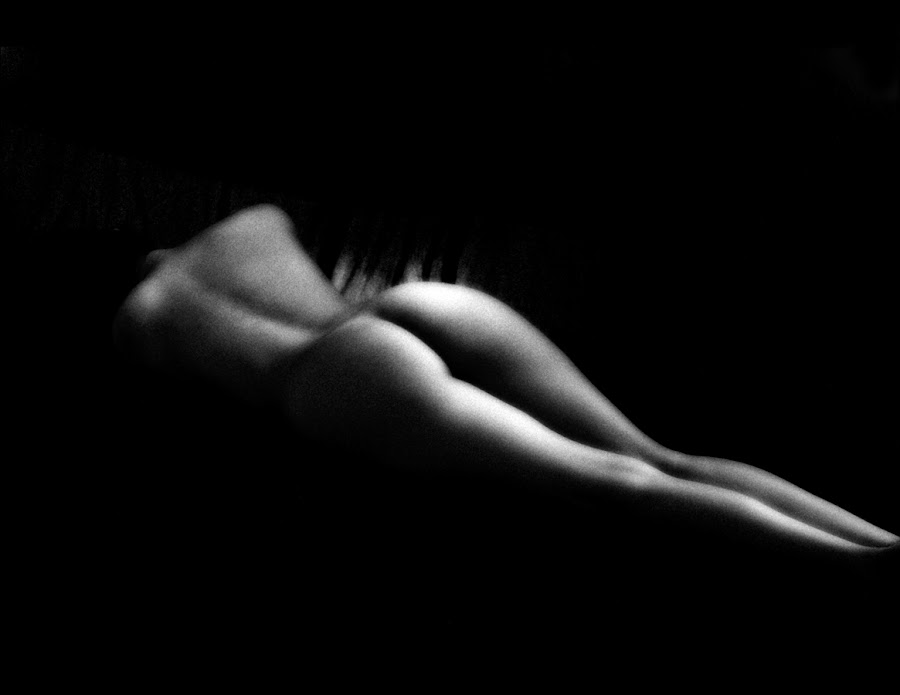 Shadow Play by Jeptha Eddy - Nudes & Boudoir Artistic Nude ( black and white, female, artistic nude, legs, butt )