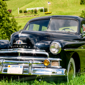 1950 Plymouth Special Deluxe by Frank Matlock II - Transportation Automobiles ( mountains, classic car, plymouth, special deluxe, antique, country road )