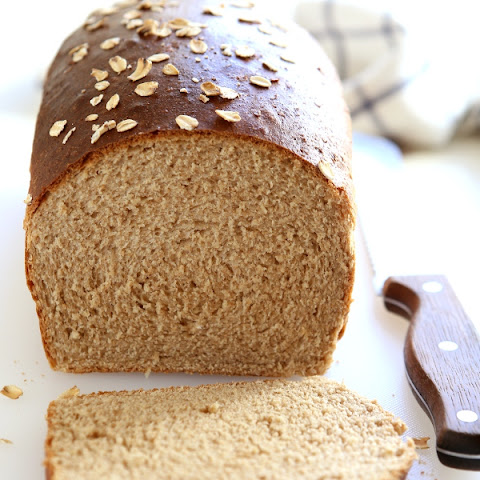 Honey Whole Wheat and Oat Sandwich Bread