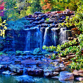 -------Waterfall-------- by Neal Hatcher - Landscapes Waterscapes