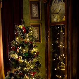 Tree and Clock by Keith Wood - Artistic Objects Furniture ( kewphoto, tree, clock, keith wood )