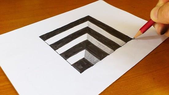Как нарисовать простой 3д рисунок ютуб