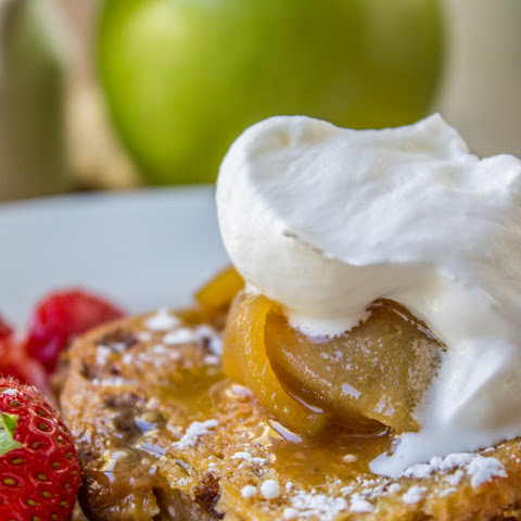 Caramel Apple Upside Down French Toast Bake
