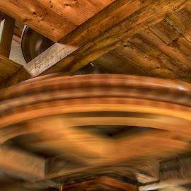Spinning wheel inside a windmill by Henk Smit - Buildings & Architecture Other Interior