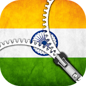 Indian flag Zipper Lock screen APK for Bluestacks