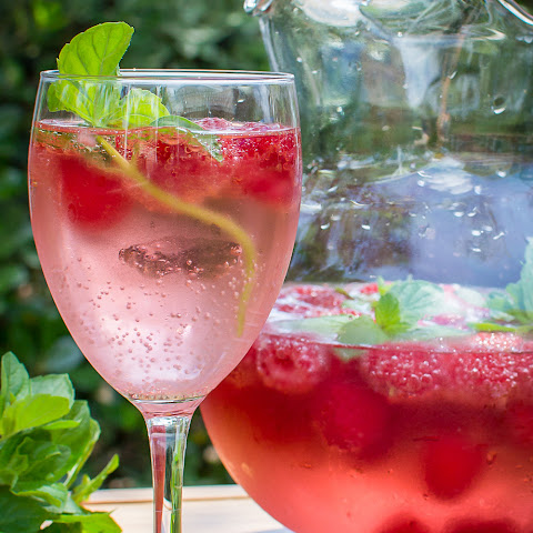 Pink Raspberry Champagne Sangria