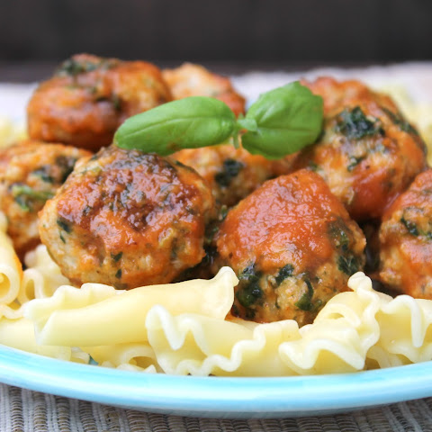 Sweet & Spicy Baked Chicken & Spinach Meatballs