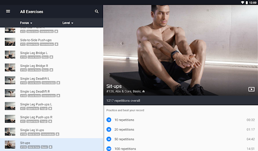 Runtastic Results Training App- screenshot thumbnail