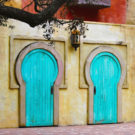 by Asya Atanasova - City,  Street & Park  Street Scenes ( home, blue, street, door, house )