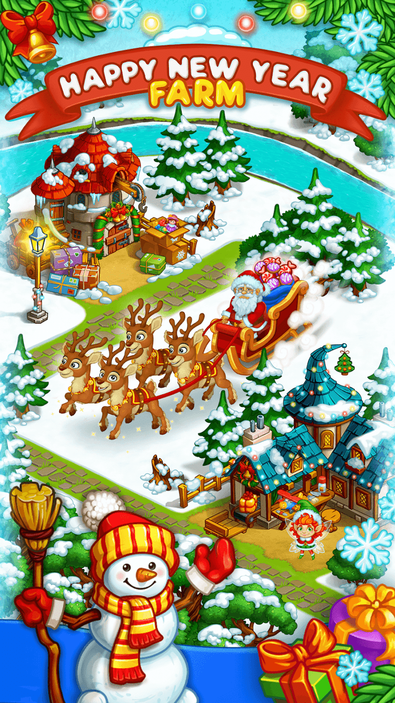 Farm Snow: Happy Christmas Story With Toys & Santa Screenshot 10