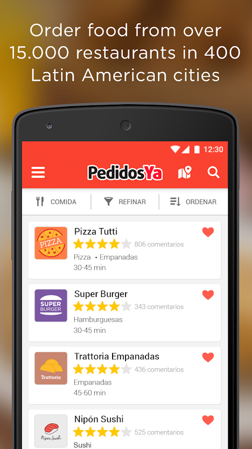 PedidosYa - Food Delivery Screenshot 0