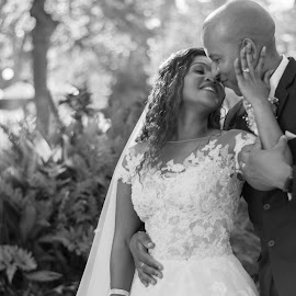 Loving touch by Julene Muller - Wedding Bride & Groom ( black and white, bride and groom,  )