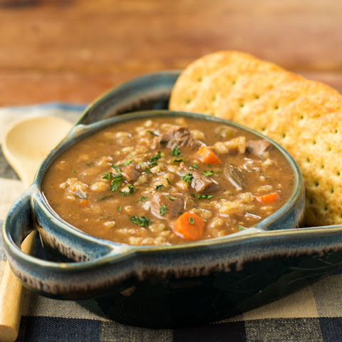 Slow Cooker Beef and Barley Soup