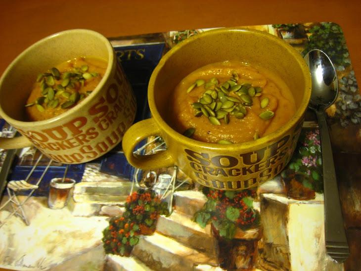 Roasted Butternut Squash, Carrot & Yam Soup (Dairy-free, gluten-free ...