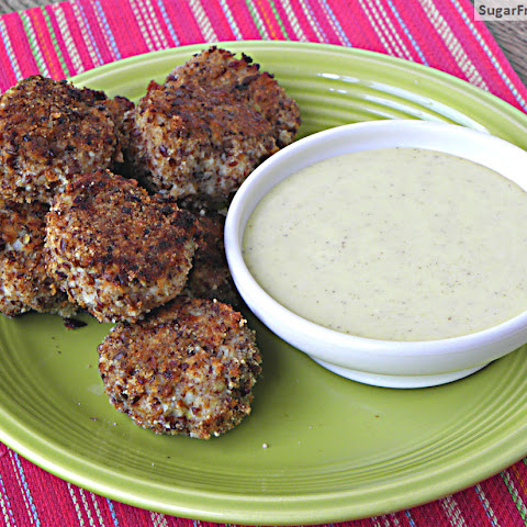 Gluten Free Baked Chicken Nuggets with Honey Mustard Sauce