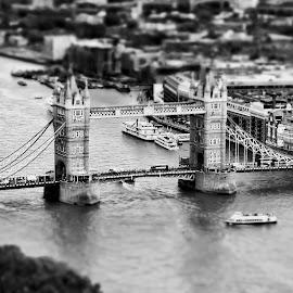 Tower Bridge  by Alexandre Rios - Buildings & Architecture Bridges & Suspended Structures ( photooftheday, england, london, tower bridge, thames river, picoftheday, bestoftheday, uk, construction, cityscape, bridge, river, black and white, photography, architecture )