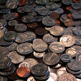 Change by Chris Bizic-Beihl - Artistic Objects Other Objects ( quarters, change, silver, pennies, dimes, nickles )