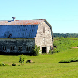 Vermont Farm by Janet Smothers - Landscapes Prairies, Meadows & Fields