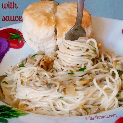 Pasta with Clam Sauce {5 Ingredient Quick Fix}